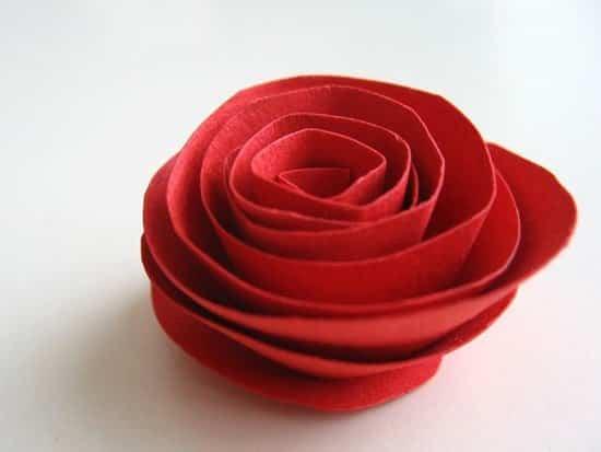 corazon rosas de papel 5
