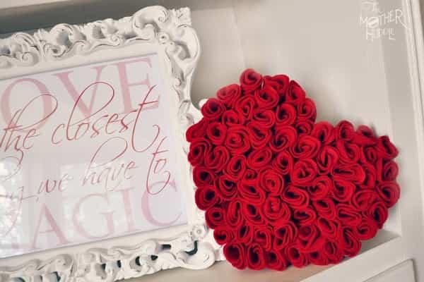 rosas de fieltro 1