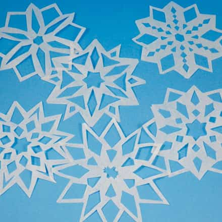 Bonitos copos de nieve