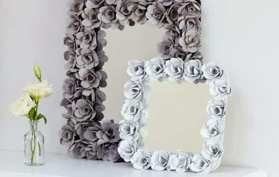 Espejos decorativos con cartones de huevos ayuda para manualidades - Espejos de pared decorativos ...