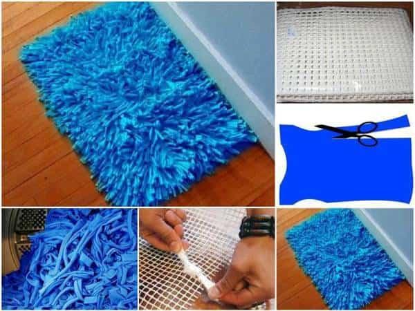 Mira lo f cil que es crear una alfombra para tu ba o con - Telas para alfombras ...