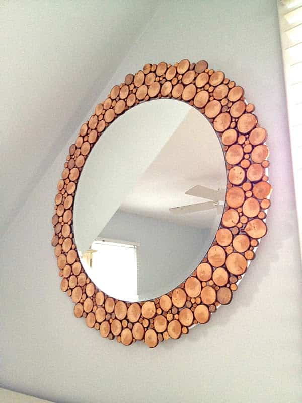 espejo decorado con madera 1