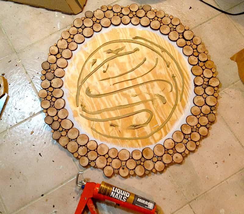 espejo decorado con madera 7