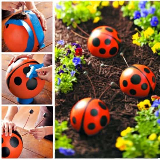 Garden Shoes With Lady Bugs