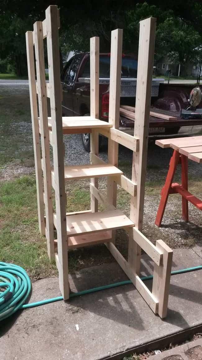 cama litera con madera reciclada 1