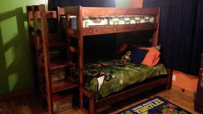 cama litera con madera reciclada 6