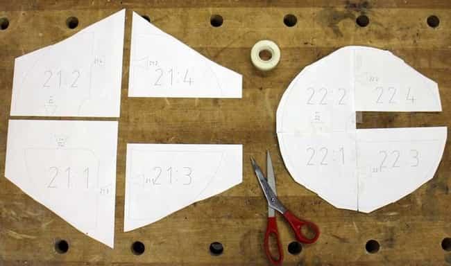 lampara por piezas de madera 1