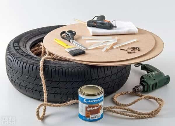 puf rueda reciclada 1