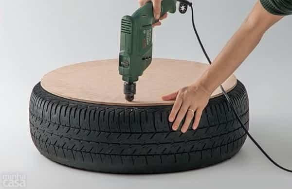 puf rueda reciclada 2
