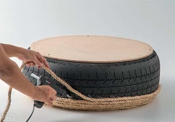 puf rueda reciclada 7