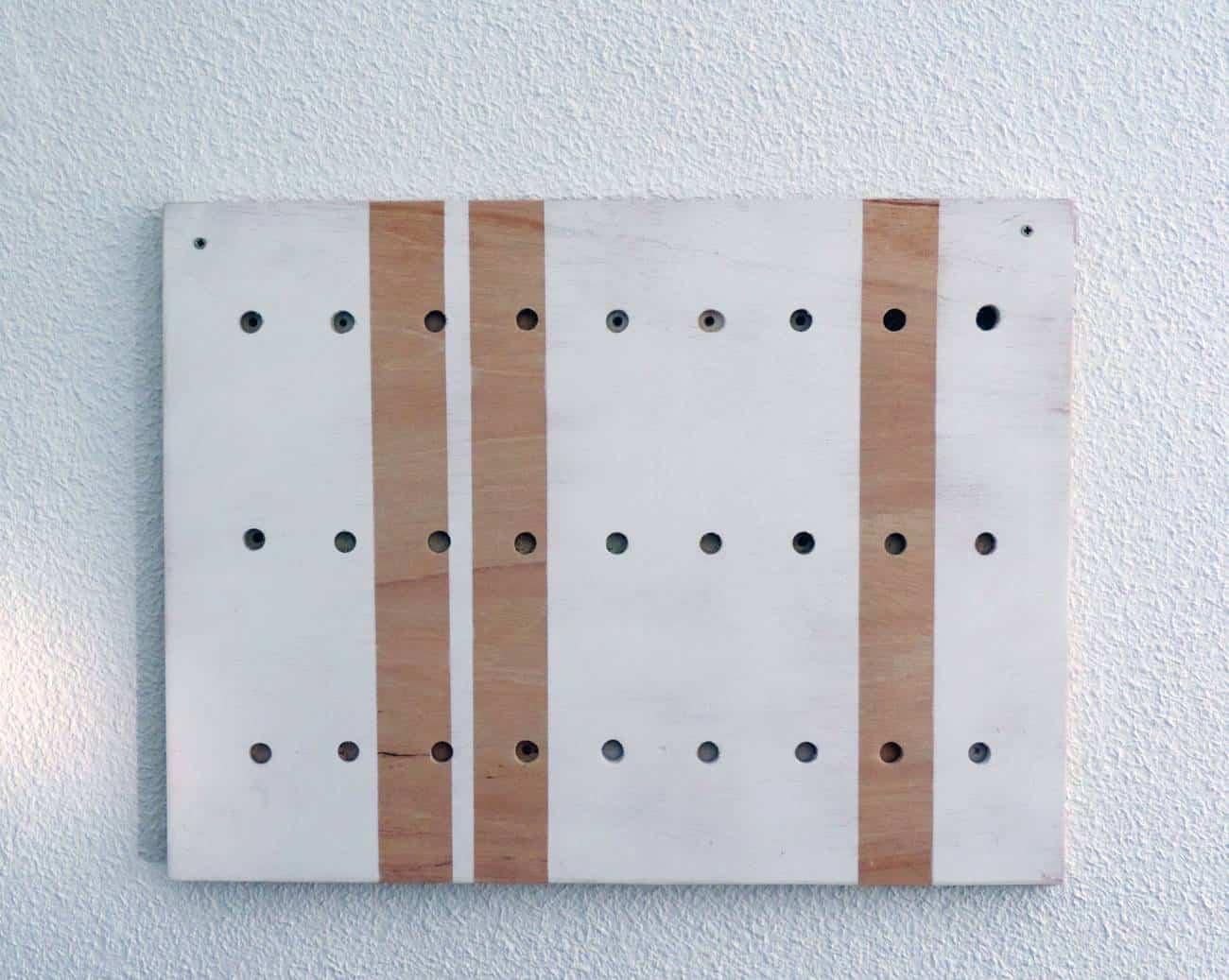 Estanteria para el recibidor - DIY -colgar panel 12