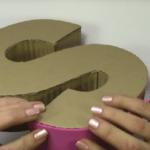 Letras en 3D hechas en cartón
