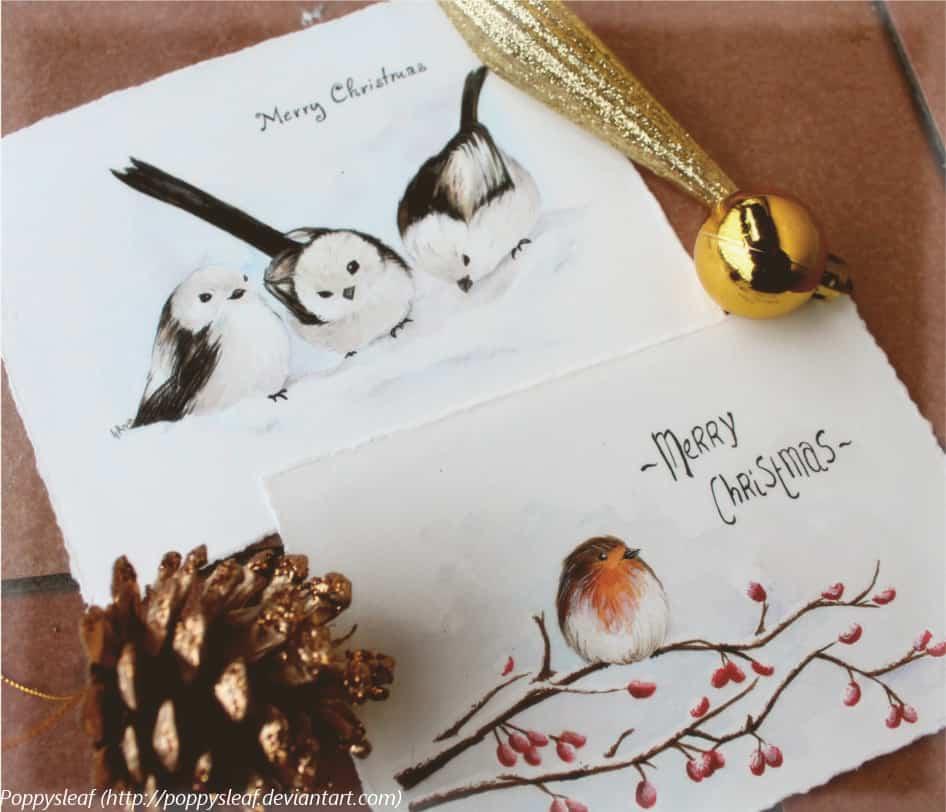 tarjeta de navidad en color blanco y con un copo rosa