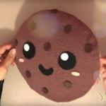 Cojín con forma de galleta