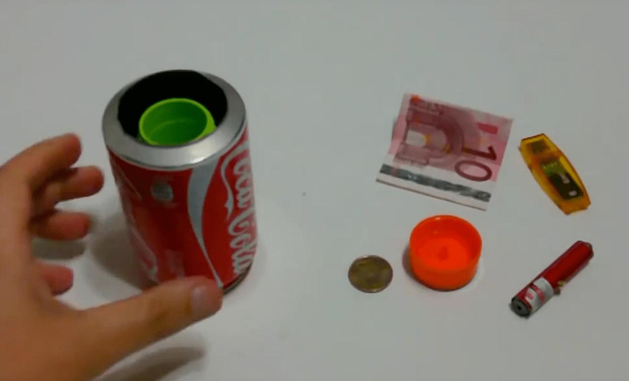 Escondite secreto para el dinero