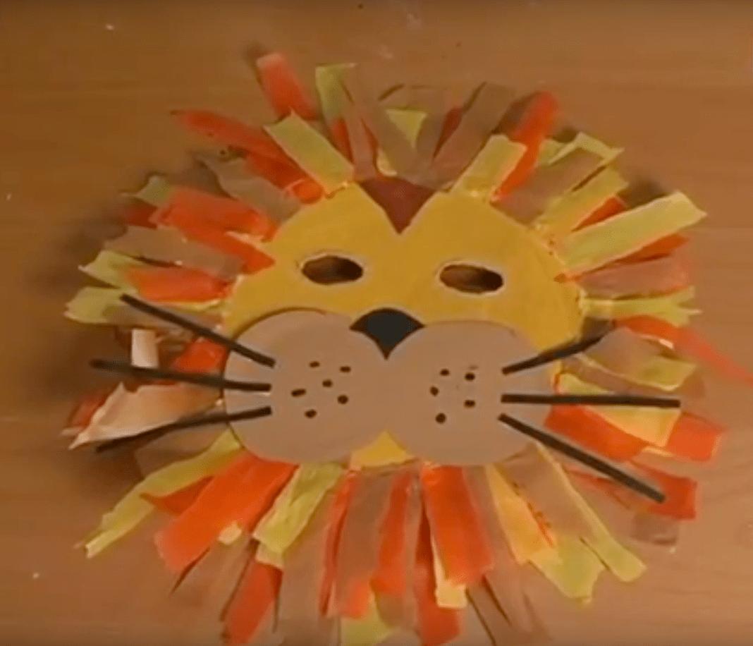 5d13fb3553 Hacer una máscara de león para carnaval muy divertida