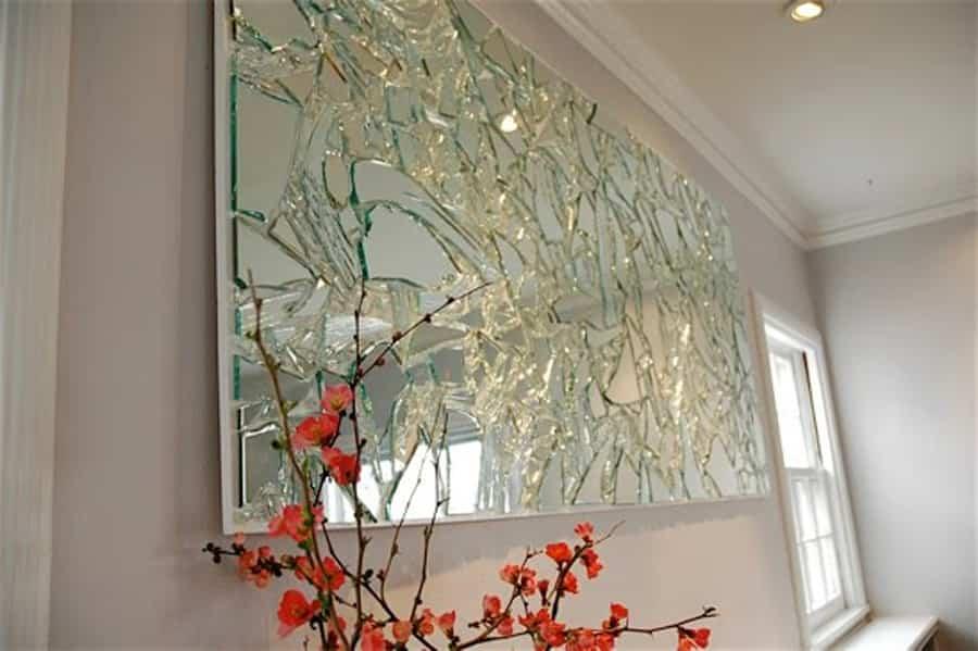 reciclar espejos rotos