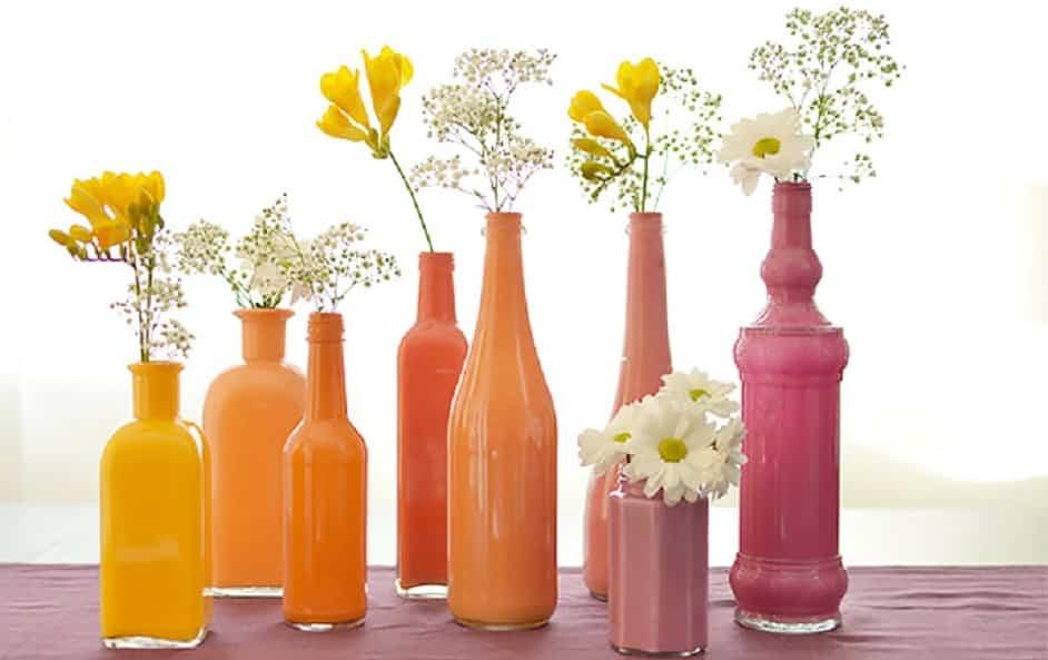 Manualidades con jarrones de cristal for Decoracion hogar jarrones