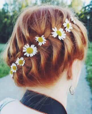 flores de tela para el pelo