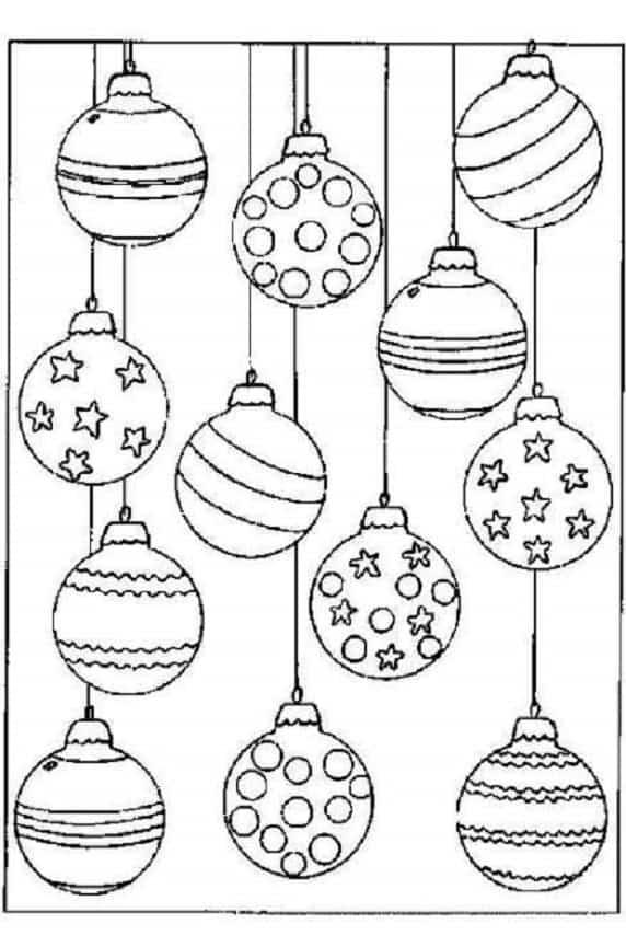 Cómo hacer bolas de navidad para colorear? ¡No te las pierdas!