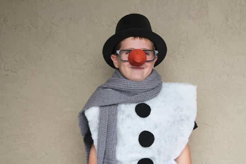 disfraz de muñeco de nieve