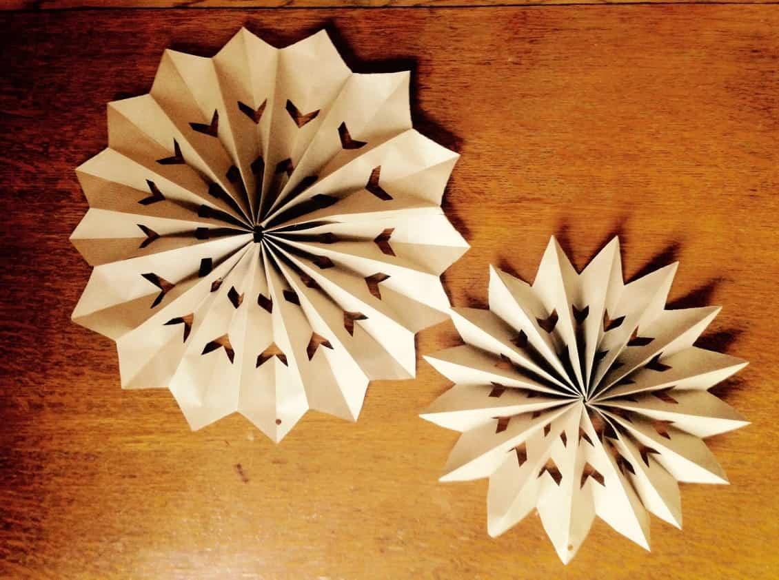 tutorial de estrellas de navidad de papel echa un vistazo