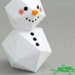 muñeco de nieve de papel