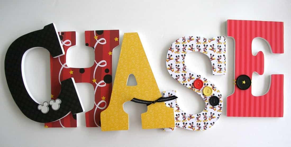letras de madera para decorar