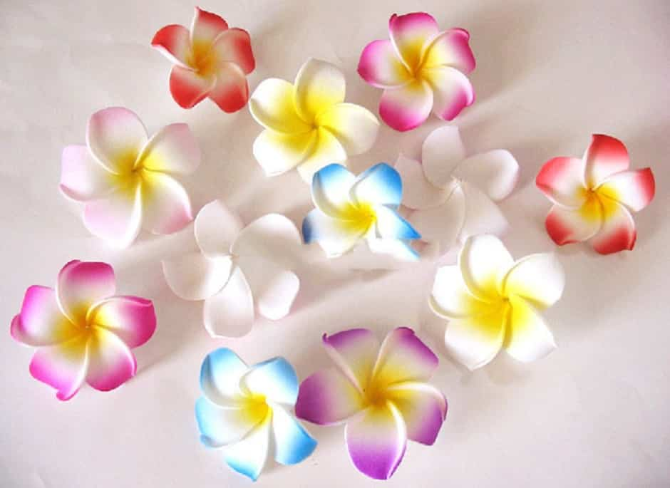 hacer flores de goma Eva