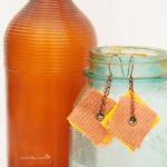 pendientes con materiales reciclados