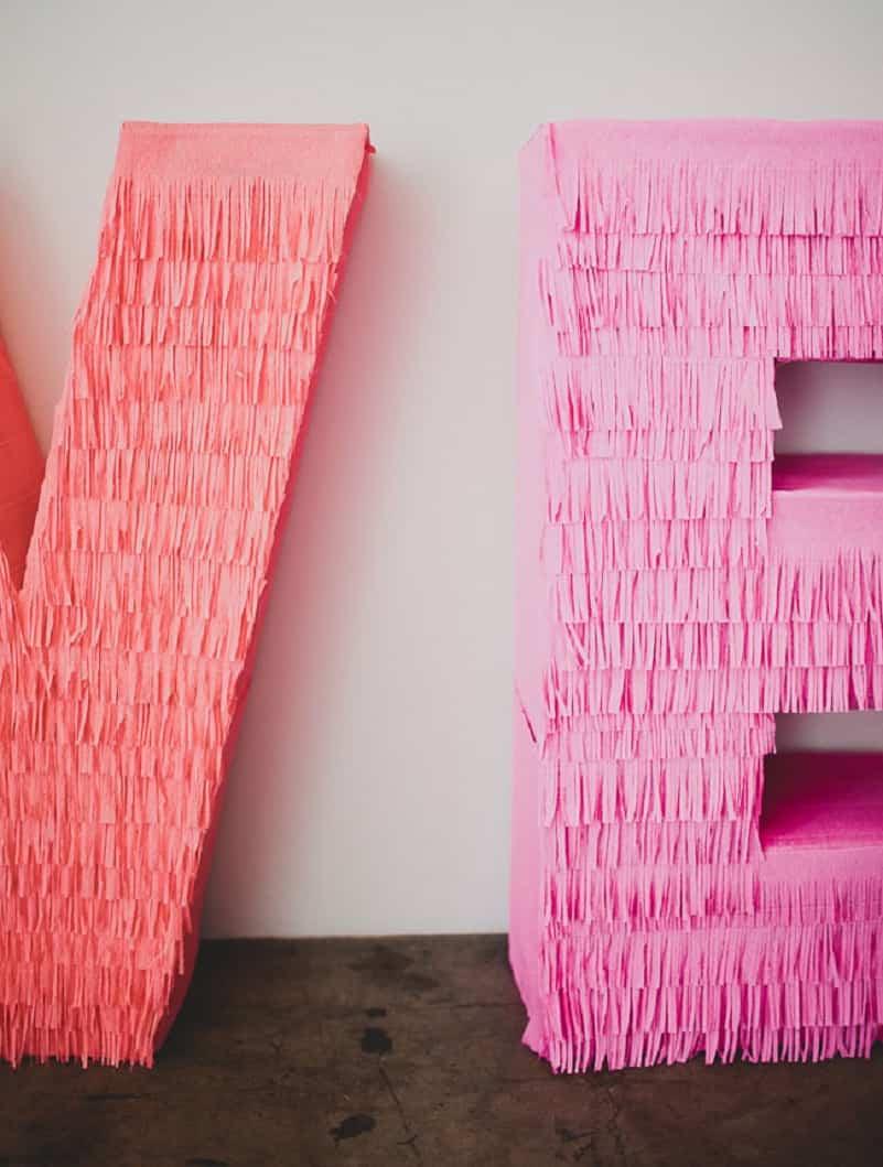 decorar letras en 3D