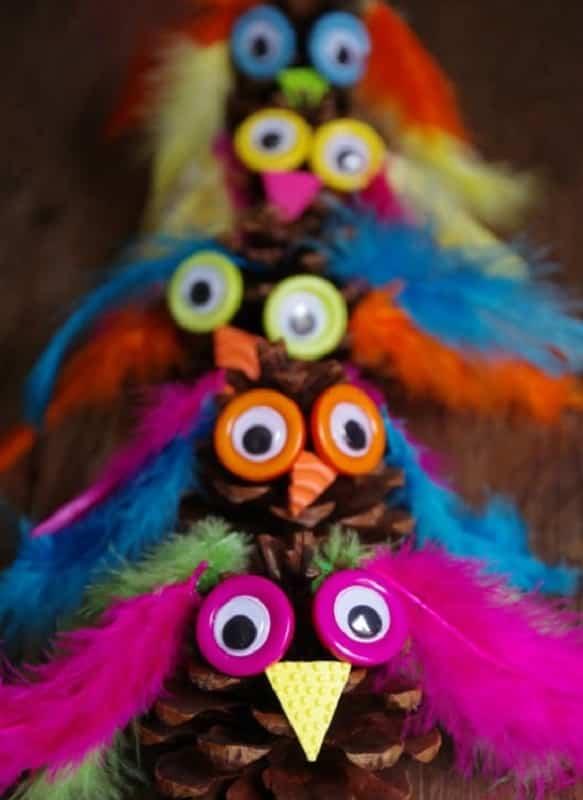 manualidades con plumas